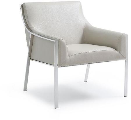 Whiteline CH1391-TAU Modern Living Club Chair, Taupe