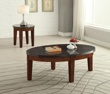 Faymoor 81745CE 2 PC Living Room Table Set with Coffee Table + End Table in Walnut