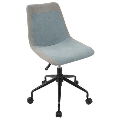 OC-ORZO BK+BU Orzo Height Adjustable Task Chair in Grey and Blue