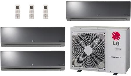 Triple Zone Mini Split Air Conditioner System with 36000 BTU Cooling Capacity  3 Indoor Units  and Outdoor 730399