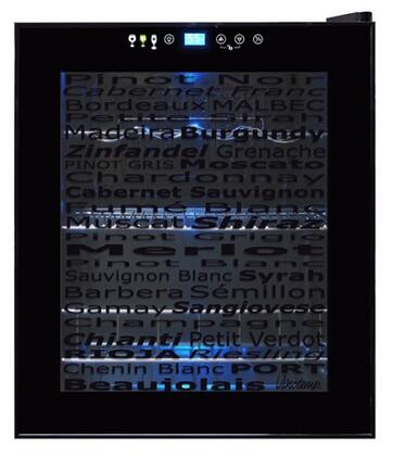 VT-15 TSWV Butler Series Wine Varietal 15-Bottle Wine Cellar with Touch Screen Controls  Digital Controller with Blue LED Readout  Recessed Handle and Interior
