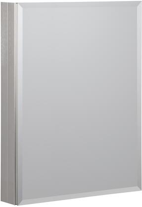 MMC1930-BN 19 inch  x 30 inch  Aluminum Medicine Cabinet with Beveled Mirror  1 Slow Close Door  3 Interior Adjustable Glass Shelves and Mirrored Interior in Brushed