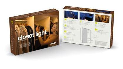 5707823556060 Mylight.Me Closet Ambient LED Light Kit  Single Motion Activated Sensor  and Single 10ft LED