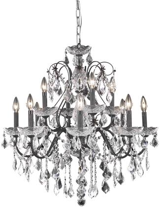 V2015D28DB/RC 2015 St. Francis Collection Chandelier D:28In H:28In Lt:12 Dark Bronze Finish (Royal Cut