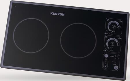 Kenyon B81335 SilKEN2 Induction Two Burner Landscape Trimline Cooktop, 240V, Black