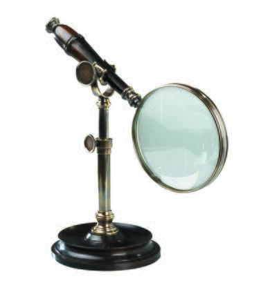 AC099E Magnifying Glass With Stand  Bronzed 4.5