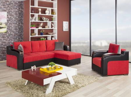 Divan Deluxe DIDESECACTR Pckage Containing Sectional and Armchair with Pillows  Storage Under the Seats  Stitched Detailing  Curved Arms and Block Feet with