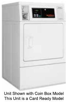 "SDEBYAGS171TW01 27"" Single Load Electric Dryer with 7 cu. ft. Capacity  Front Lint Filter  Micro Display Control and Prep for Card  in"