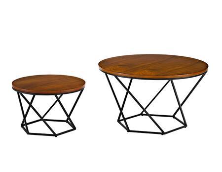 AF28CLRGWBL Geometric Wood Nesting Coffee Tables in