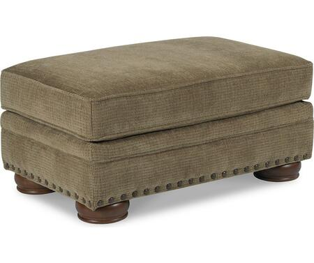 Cooper Collection 732-17/1317-21 38 inch  Ottoman with Fabric Upholstery  Piped Stitching  Nail Head Accents and Traditional Style in Applause