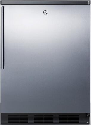 FF7LBLBISSHV 24 inch  FF7BI Series Medical  Commercial Freestanding or Built In Compact Refrigerator with 5.5 cu. ft. Capacity  Lock  Adjustable Spill Proof Glass