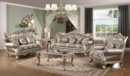 Ariel Collection ARIELLIVINGROOMSET 5-Piece Living Room Set with Sofa  Loveseat  Chair  Coffee Table and End Table in