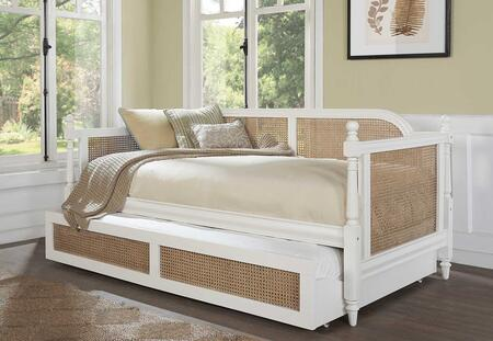 Melanie Collection 2167DBT Twin Size Daybed with Trundle Included  Cane Inset Panels  Decorative Finials and Sturdy Hardwood Construction in