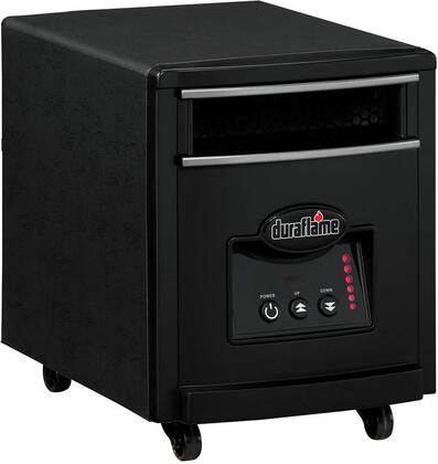 """7HM1000 12"""" Infrared Quartz Heater with 4 Infrared Quartz Heating Elements 3400 BTUs Casters Multi-Function Remote and Brushed Aluminum Front Strips:"""