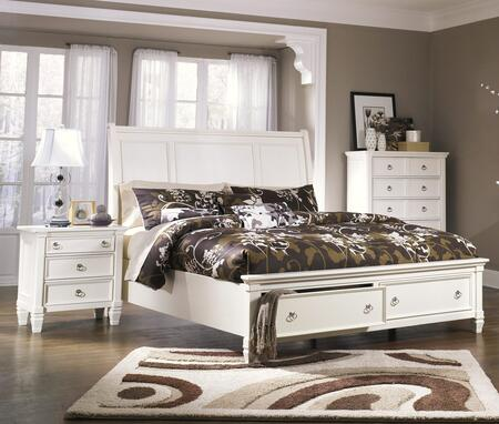 Prentice Collection King Bedroom Set with Storage Bed and Nightstand in