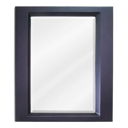 MIR068 Bath Elements 23 inch  x 28 inch  Espresso Dalton Mirror with Beveled