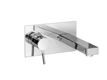 28029-PC Hey Joe 8 inch  x 4-1/2 inch  Wallmount Lavatory Faucet in Polished