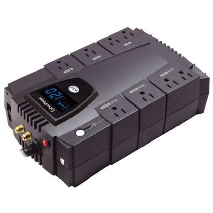 CP825AVRLCD UPS - 825VA/450W Intelligent LCD  AVR 8-Outlet RJ11/RJ45/Coax Compact Design USB/Serial - 3yr Warranty / $250k