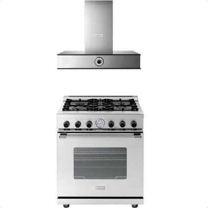 2-Piece Stainless Steel Kitchen Package with RN301SCSS 30 inch  Freestanding Dual Fuel Range