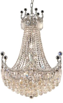 V8949D24C/SS 8949 Corona Collection Chandelier D:24In H:32In Lt:18 Chrome Finish (Swarovski   Elements