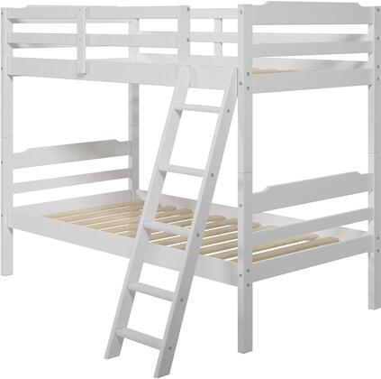 "Hayden 3.0 Collection A306 78"" Twin Size Bunk Bed with Solid Pine Wood Construction  Sleek Headboard and Wood Rails in"
