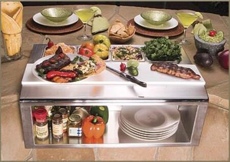 APS-30P 30 Built-In Plating And Garnish Center With Food Pans  All Commercial Stainless Steel Welded Construction  Large Commercial-Style Poly Cutting Board
