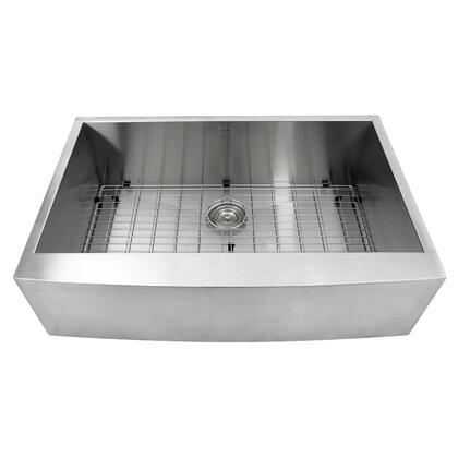 Apron332010-16 - 33 Inch Pro Series Single Bowl Undermount Apron Front Stainless Steel Kitchen