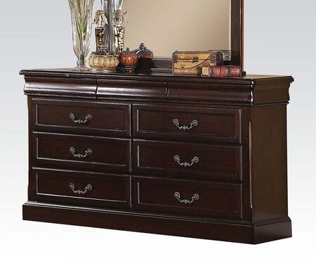 Roman Empire II Collection 21348 63 inch  Dresser with 9 Drawers  Metal Hardware  Selected Hardwood and Veneer Materials in Cherry