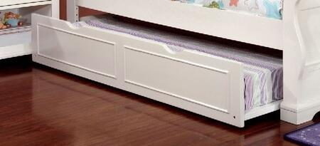 Mullan Collection CM7943WH-TRND Trundle with Attractive Molding  Solid Wood and Wood Veneers Frame Construction in Off-White