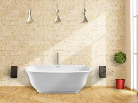 PBT-IMPERIAL-5928-CR Imperial 59 inch  X 28 inch  White Oval Soaking