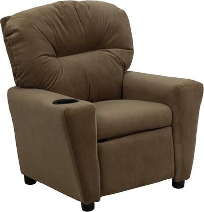 Contemporary Brown Microfiber Kids Recliner with Cup Holder BT-7950-KID-MIC-BRWN-GG by Flash Furniture