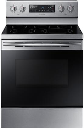 "NE59M4320SS 30"" Freestanding Electric Range With Fan Convection  5.9 cu. ft. Capacity  Warming Center  Hidden Bake Element  Storage Drawer  Wide View Window"