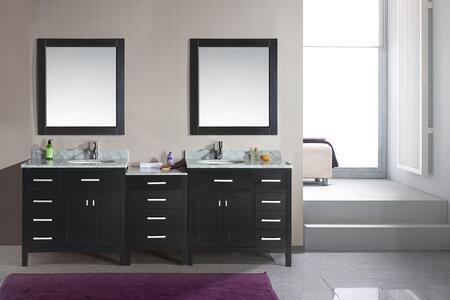 DEC076D-92 London 92 inch  Double Sink Vanity Set in