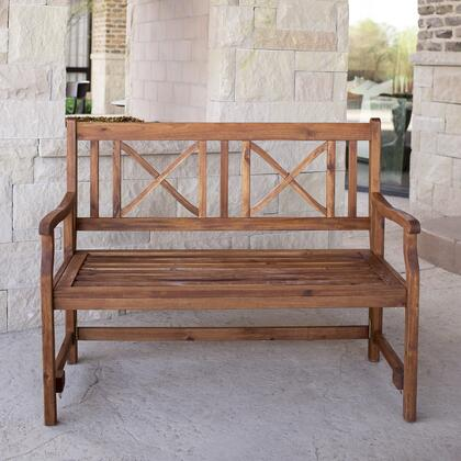OW48FBBR 48 inch  Acacia Wood Folding Bench in