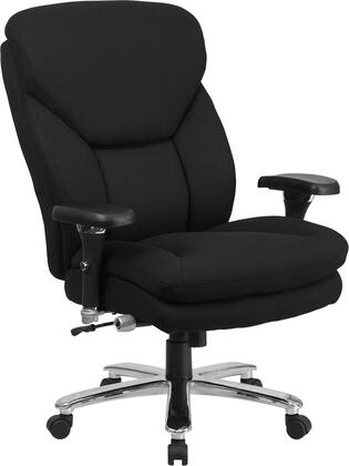 GO-2085-GG HERCULES Series 24/7 Intensive Use  Multi-Shift  Big & Tall 400 lb. Capacity Black Fabric Executive Swivel Chair with Lumbar Support