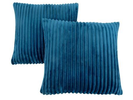 I 9359 18 inch  x 18 inch  Pillow with Textured Rib Cover in Blue - 2