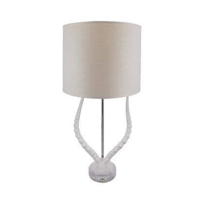 225091 Faux Horn Table Lamp In White with