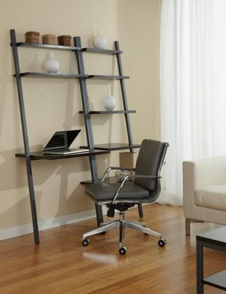1C100014PES Espresso Leaning Ladder Desk with
