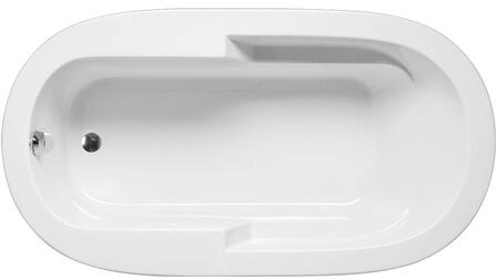 MADO6636PA2W Madison Oval Bathtub With Arm Rests: