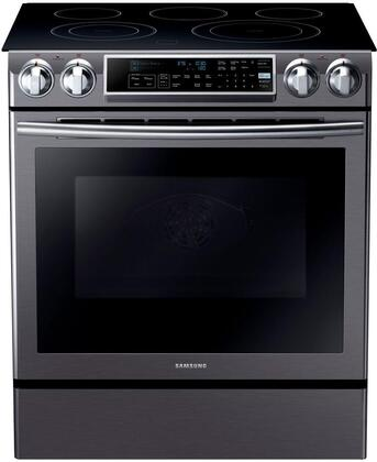 Samsung NE58K9500SG 30 Slide-in Electric Range with Smoothtop Cooktop, 5.8 cu. ft. Primary Oven Capacity, in Black Stainless Steel