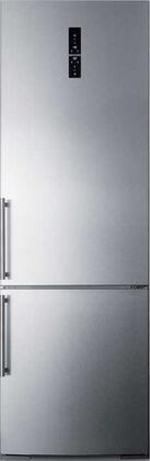 Summit FFBF249SSBI 24 Inch Counter Depth Bottom Freezer Refrigerator
