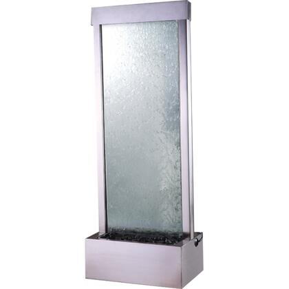 GF4SG Gardenfall 4' Stainless Steel With Clear Glass Surface & Brushed Stainless Steel