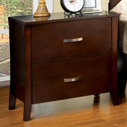 Midland Collection CM7600N 24 Nightstand with 2 Drawers  Metal Handles  Solid Wood and Wood Veneers Construction in Brown Cherry