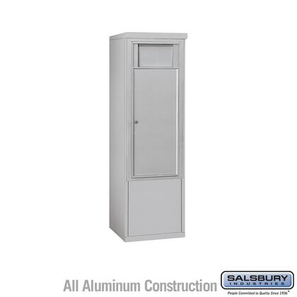 3910SX-1BAF Free-Standing 4C Horizontal Receptacle Bin ADA Height Compliant (Includes 3710S-1BAF and 3910SX-ALM Enclosure) - 10 Door High Unit (52-3/4 Inches)