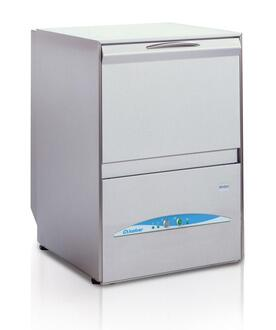MINI Gravity Drain Counter Top Glasswasher with Door opening safety device and Security thermostat in Stainless