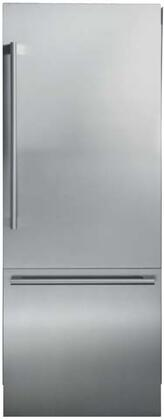 Blomberg BRFB1920SS 30 Bottom Freezer Built In Refrigerator with 16.4 cu. ft. Capacity Blue Light Technology Ionfresh Duo Cycle Cooling Water Dispenser and Ice Maker in Stainless