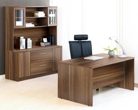 1C100009MWL Walnut Executive Office Desk with