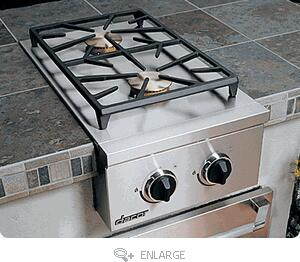 Epicure OBSB162LP 16 Built-in Side Burner with 2-18 000 BTU Sealed Brass Burners  14