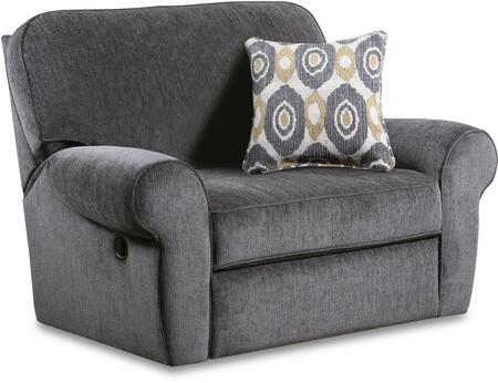 """57005-195_Shambala_Smoke_55""""_Cuddler_Recliner_with_Rolled_Arms_in"""