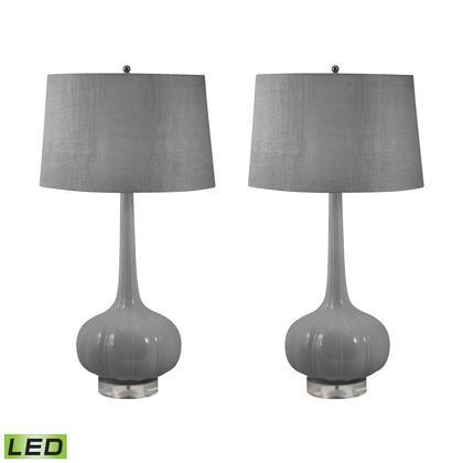 229/S2-LED Del Mar Porcelain LED Table Lamp in Grey thumbnail